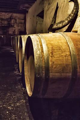 Wooden Wine Barrels Print by Georgia Fowler