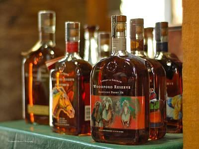 Woodford Kentucky Derby Bottles Print by Constance Sanders