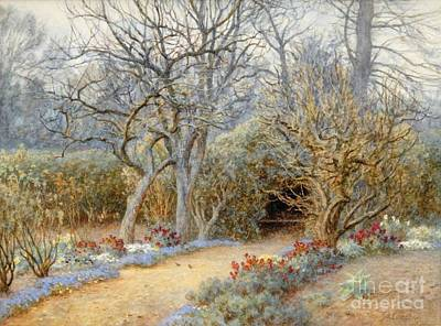Woodland Painting - Woodland Path by Helen Allingham