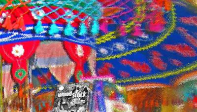 Tassel Digital Art - Woodstock Fabric Abstract 2 by Steve Ohlsen