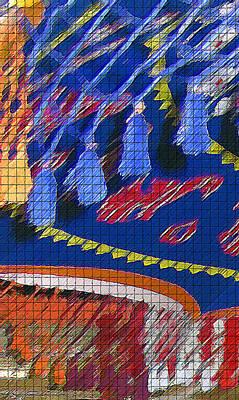 Tassel Digital Art - Woodstock Fabric Abstract by Steve Ohlsen