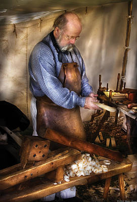 Woodworker - The Carpenter Print by Mike Savad