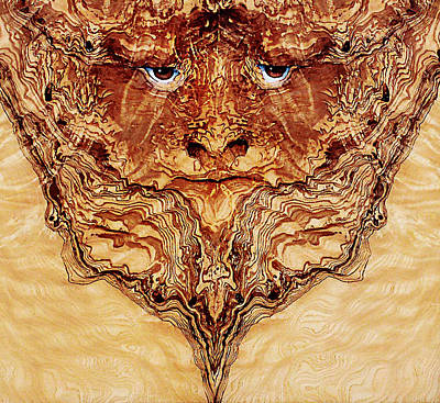 Burl Painting - Woody 1a by Rick Mosher