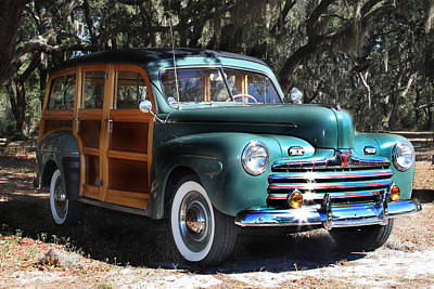 Woody Wagon Photograph - Woody Classic Cars by Joseph G Holland