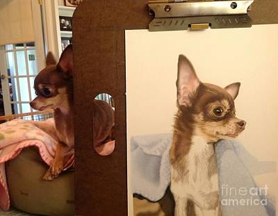 Work In Progress Drawing - Work In Progress- Stella by Sarah Batalka
