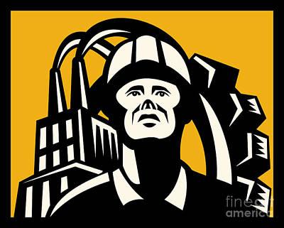 Worker Factory Building Print by Aloysius Patrimonio