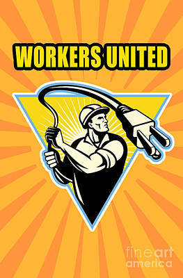 Worker United Print by Aloysius Patrimonio
