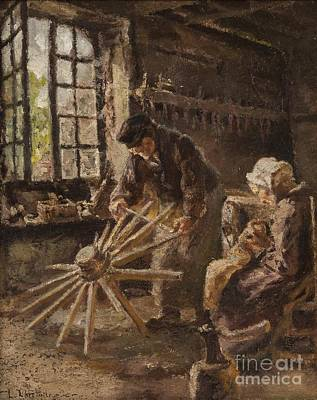 Day Painting - Working Day by Leon Augustin