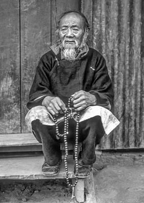 Tibetan Buddhism Photograph - Working Hands Bw by Steve Harrington