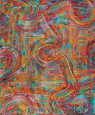 Autism Painting - Working Together by Wendy Middlemass