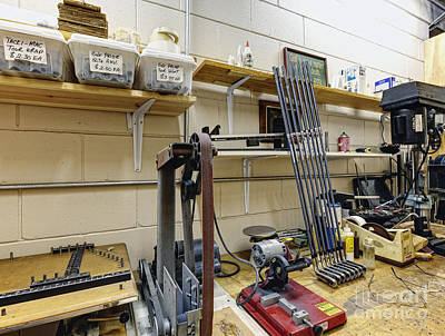 Workshop For Manufacturing Golf Clubs Print by Skip Nall