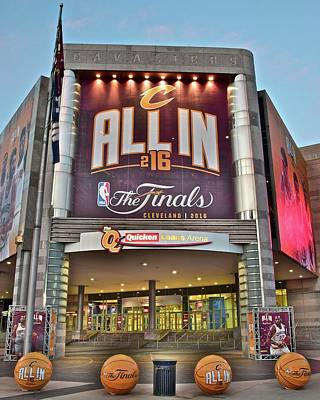 World Champion Cleveland Cavaliers Print by Frozen in Time Fine Art Photography