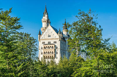 Landscape Photograph - World-famous Neuschwanstein Castle On A Sunny Day, Germany by JR Photography