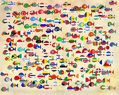 All Around Us Digital Art - World Fishes by Keshava Shukla