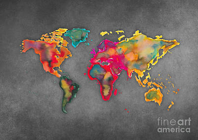 World Map 2027 Print by Justyna JBJart