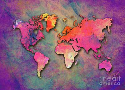 World Map Special 4 Print by Justyna JBJart