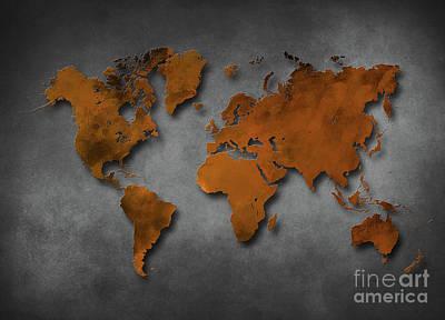 World Map Special 6 Print by Justyna JBJart