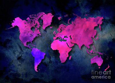 World Map Special 7 Print by Justyna JBJart