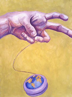 Innocence Painting - World On A String by Karl Frey