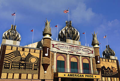 Mural Photograph - World's Only Corn Palace by Art Spectrum
