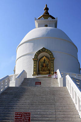 Nepal Saints Photograph - World Peace Pagoda, Nepal by Aidan Moran