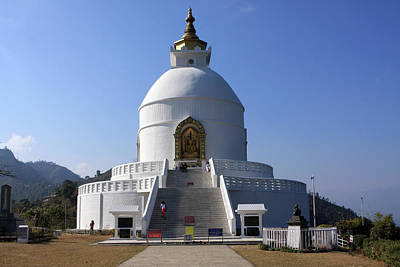 Nepal Saints Photograph - World Peace Pagoda Of Pokhara, Nepal by Aidan Moran