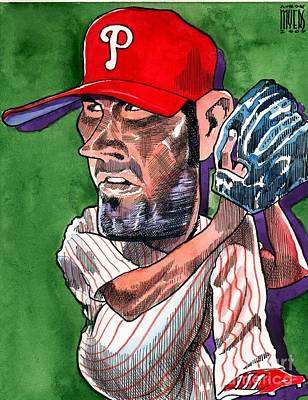Cole Hamels Painting - World Series Mvp by Robert  Myers
