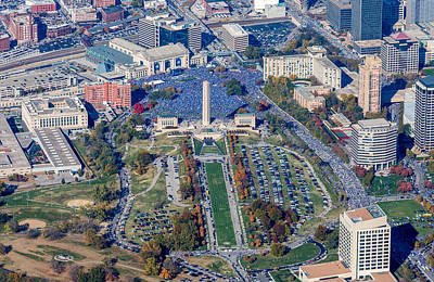 Aerial Photograph - World Series Rally 2015 by Steve and Laura Johnson