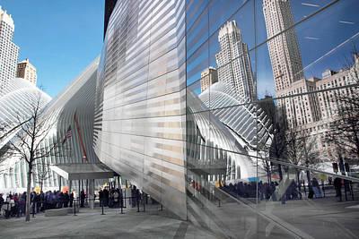 Ground Zero Digital Art - World Trade Center Plaza by Jessica Jenney