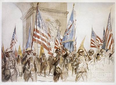 World War I: Victory Parade Print by Granger