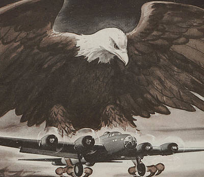 American Eagle Painting - World War II Advertisement by American School