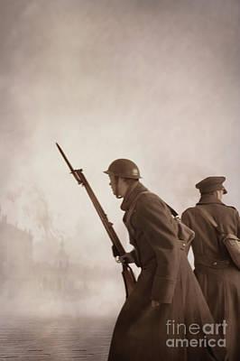 World War One Soldiers  Print by Lee Avison