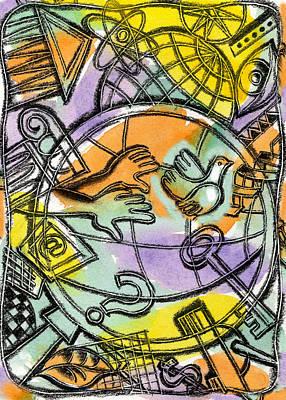 Navigation Painting - World Wide Web by Leon Zernitsky