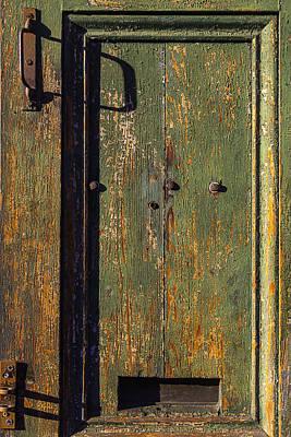 Nola Photograph - Worn Green Door by Garry Gay