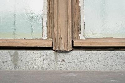 Worn Window Frame Print by Tom Gowanlock