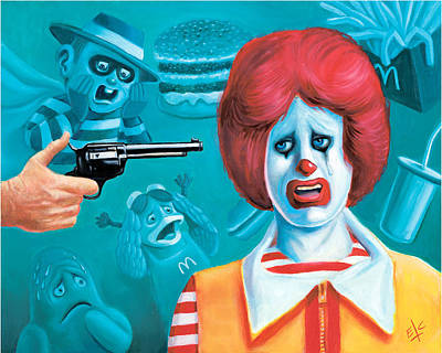 Ronald Mcdonald Painting - Would You Like Fries With That? by Scot Campbell