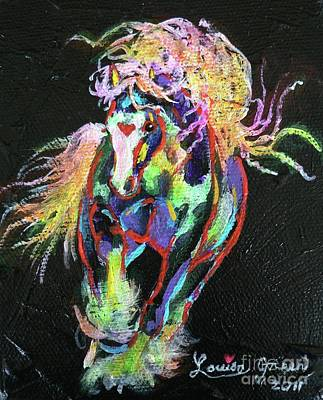 Pinto Painting - Wraggle Taggle Gypsy Cob by Louise Green