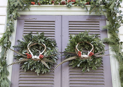Reconstruction Photograph - Wreaths At Peter Hay Kitchen by Teresa Mucha
