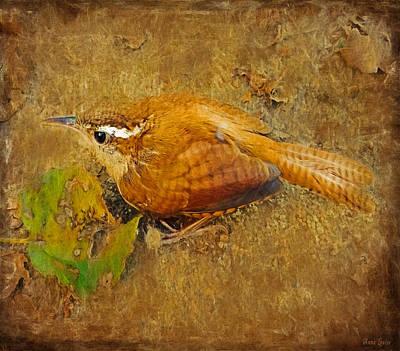 Wren Digital Art - Wren Song by Anna Louise