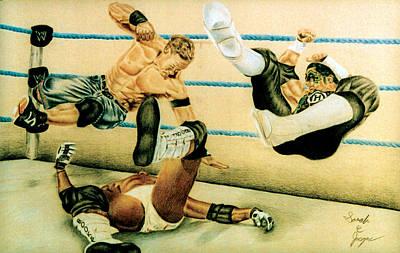 Wrestlers Print by Sarah Cyr
