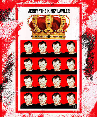 Wrestling Legend Jerry The King Lawler IIi Print by Jim Fitzpatrick