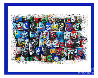 Wrestling Masks Of Lucha Libre Altered IIi Print by Jim Fitzpatrick