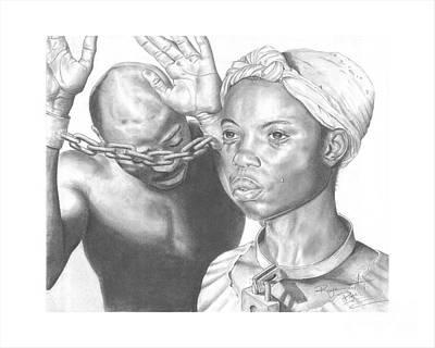Wretched Bonds Of Slavery Print by Sandra Pryer