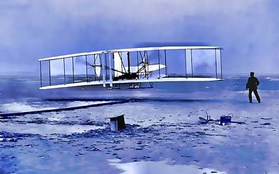 Important Mixed Media - Wright Brothers First Flight Graphic by Dan Sproul
