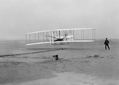 1st Photograph - Wright Brothers First Flight by War Is Hell Store