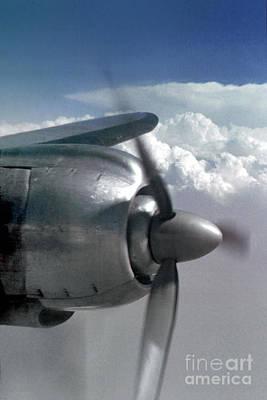 Wright R-3350 Duplex-cyclone Radial Engine On A Lockheed Constel Print by Wernher Krutein