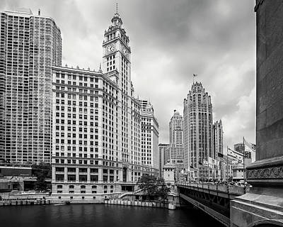 Magnificent Mile Photograph - Wrigley Building Chicago by Adam Romanowicz