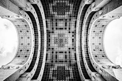 Wrigley Memorial Tiled Ceiling On Catalina Island Print by Paul Velgos