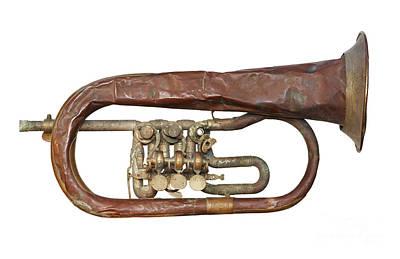 Wrinkled Old Trumpet Print by Michal Boubin