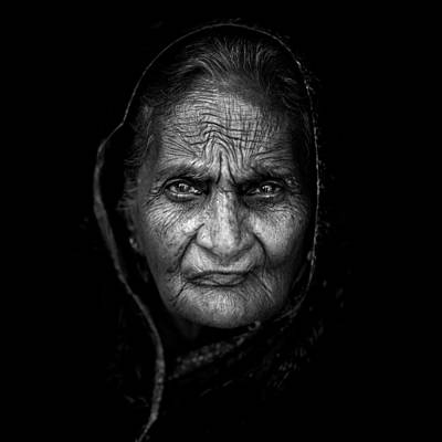 Portrait Photograph - Wrinkles by Mohammed Baqer